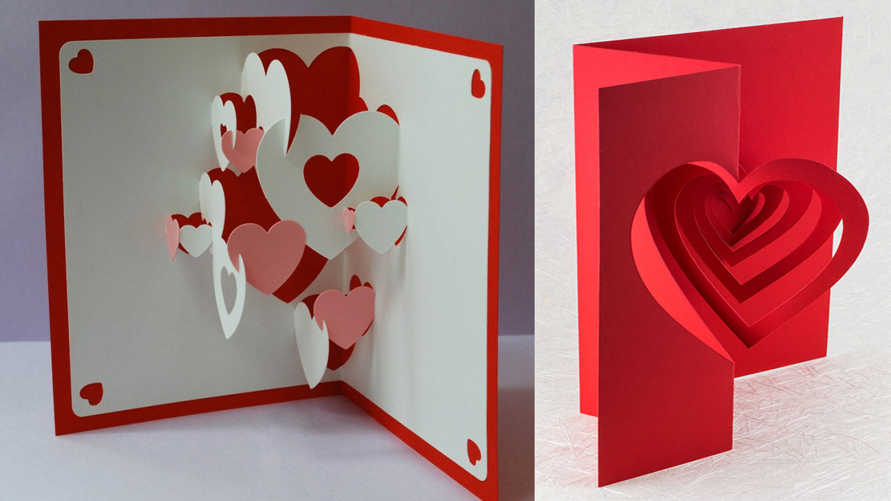 valentine popup cards  the printing museum